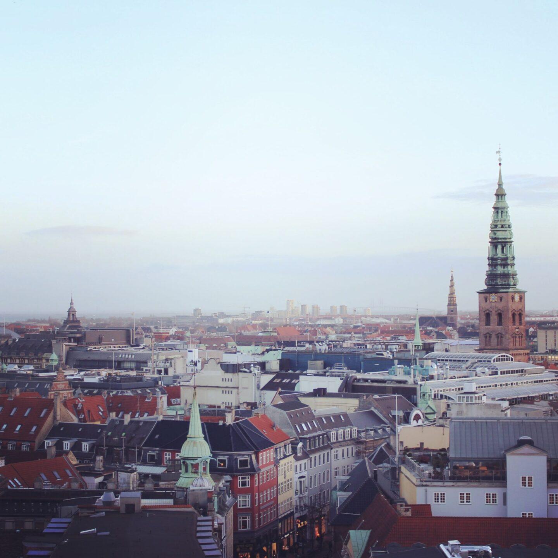 Skyline of Copenhagen from The Round Tower